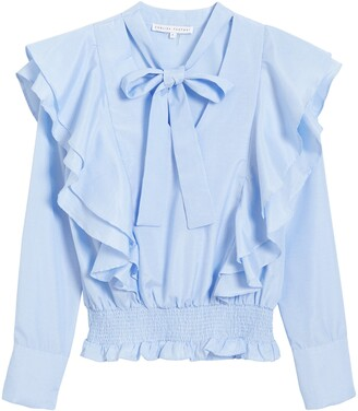 ENGLISH FACTORY Ruffle Smocked Top
