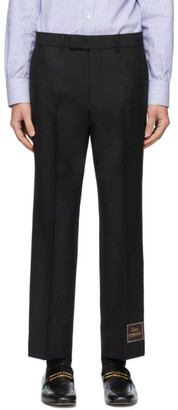 Gucci Black Wool Mohair Eterotopia Trousers