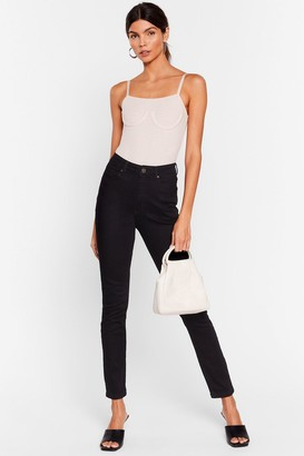 Nasty Gal Womens Hey Wash Out High-Waisted Skinny Jeans - Black - 12