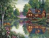 Dimensions Needlecrafts Counted Cross Stitch, Cabin Fever