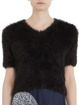 Carven Cropped Textured Sweater