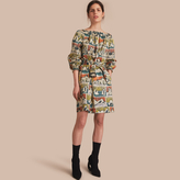 Burberry Reclining Figures Print Cotton Tunic Dress