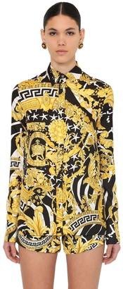 Versace PRINTED SILK TWILL SHIRT