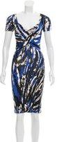 Blumarine Abstract Print Wool Dress