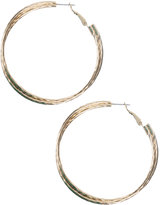 Double Hoop Texture Earrings