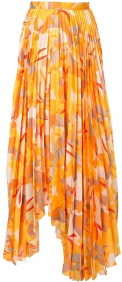 Acler Hooper abstract-print pleated skirt