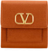 Valentino Garavani VLOGO Soft Grain Leather Flap Wallet