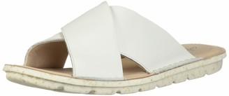 Clarks Women's Blake Sydney Slide Sandal White Leather 110 M US