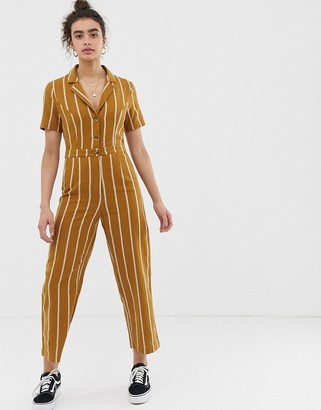 Emory Park tailored jumpsuit in pinstripe