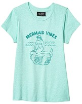 Tiny Whales Mermaid Vibes T-Shirt (Toddler/Little Kids/Big Kids) (Tri Seafoam) Girl's Clothing