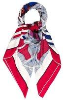 Hermes Tatersale Cashmere & Silk-Blend Shawl
