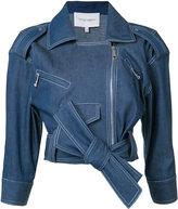 Carolina Herrera denim biker jacket - women - Cotton - 2