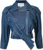 Carolina Herrera denim biker jacket