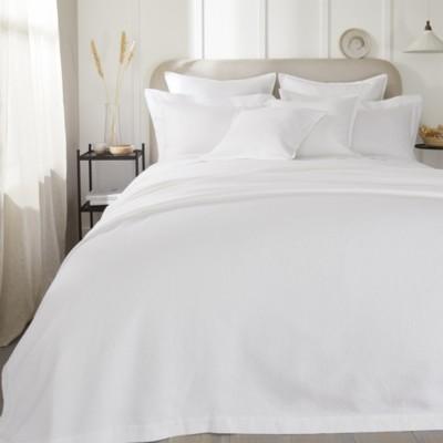 The White Company Lisbon Quilt, White, Double