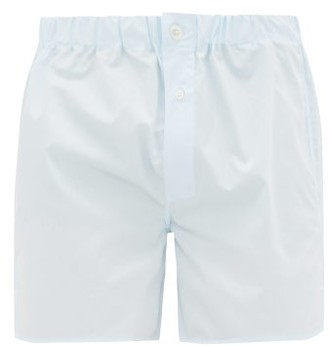 Emma Willis Cotton Boxer Trunks - Mens - Blue