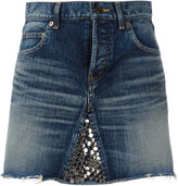 Saint Laurent metallic embellished mini skirt