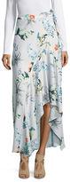 Context Floral-Print Asymmetric Skirt