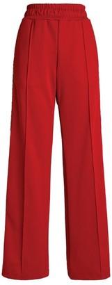 Fendi Logo Stripe Wide-Leg Sweatpants