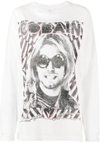R 13 Cobain print oversized t-shirt - women - Cotton - XS