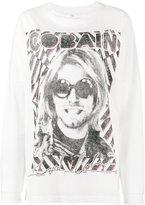 R 13 Cobain print oversized t-shirt - women - Cotton - XS