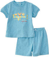 Chicco Boys' 2Pc Blue T-Shirt & Short Set