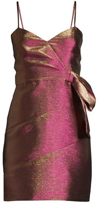 Parker Black Rita Metallic Mini Dress