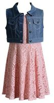 Sweet Heart Rose Sweetheart Rose Girl's Dress & Denim Vest Set