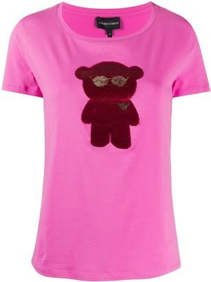 Emporio Armani bear-appliqued T-shirt
