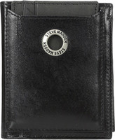 Steve Madden Grommet Glazed Leather L-Fold Wallet