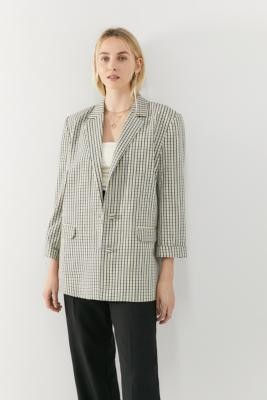 Gestuz Elonia Check Blazer - Assorted S at Urban Outfitters