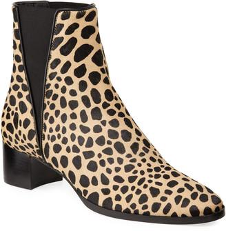 Giuseppe Zanotti Leopard Gored Chelsea Booties