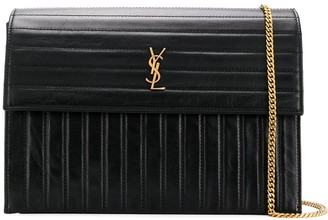 Saint Laurent Victoire quilted leather crossbody bag