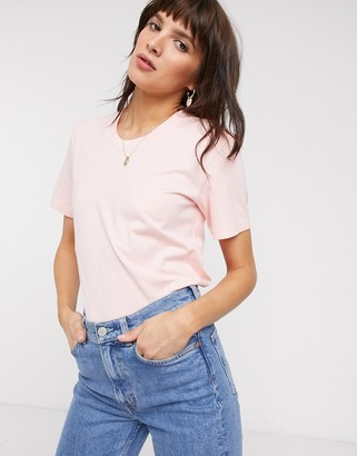 And other stories & organic cotton basic t-shirt in pink