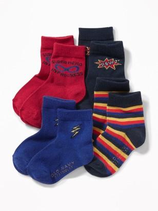 Old Navy Patterned Crew Socks 4-Pack for Toddler Boys & Baby