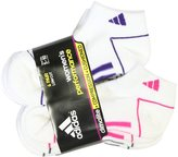 adidas Women's Low Cut Sport Socks, 6 Pack, Shoe Size 5-10, White