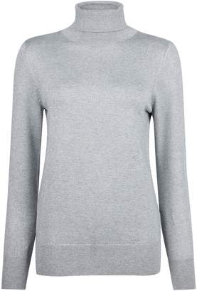 Dorothy Perkins Womens Silver Roll Neck Jumper, Silver