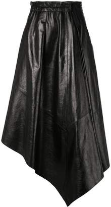 Proenza Schouler Asymmetrical Leather Skirt