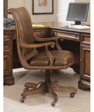 Hooker Furniture Brookhaven Genuine Leather Bankers Chair
