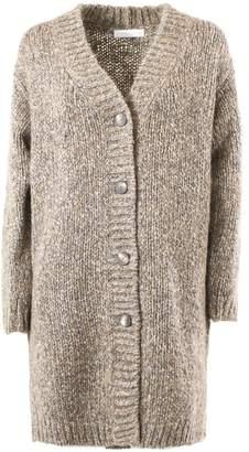 Fabiana Filippi Grey And Stone Wool Cardigan