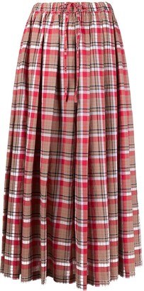 Aspesi Checked Midi Skirt