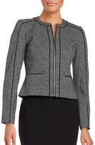 Calvin Klein Plus Marled Zip Front Jacket