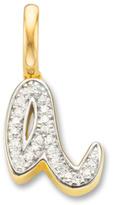 Monica Vinader Diamond Alphabet Pendant A