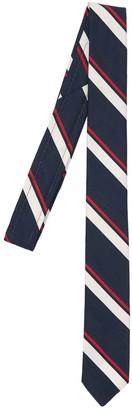 Thom Browne 5cm Jacquard Stripe Silk & Cotton Tie