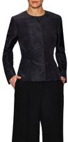 Oscar de la Renta Boyfriend Silk Watteau Jacket
