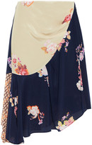 Thumbnail for your product : Preen Line Izzy Asymmetric Printed Crepe De Chine Skirt