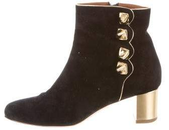 Malone Souliers Suede Round-Toe Ankle Boots