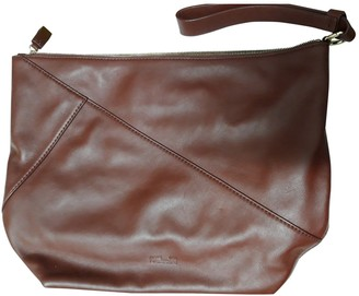 Diane von Furstenberg Burgundy Leather Clutch bags