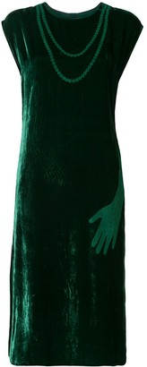 MM6 MAISON MARGIELA Velvet Sleeveless Midi Dress