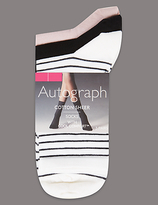 Autograph 3 Pair Pack Cotton Sheer Ankle High Socks