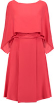 Vionnet Layered crepe dress